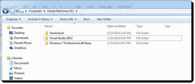 Folder is gone